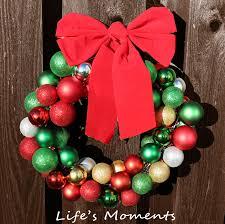 christmas bulb wreath