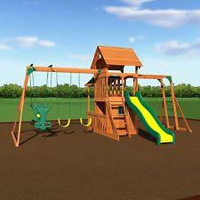 cedar swing set ebay