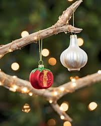 vegetable christmas ornaments tomato and garlic christmas ornaments