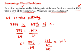 math 1a 1b pre calculus percentage word problems uc irvine
