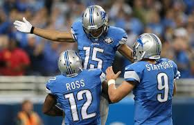 thanksgiving football lions stafford rallies lions past saints chicago tribune