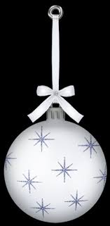 white ornaments decore