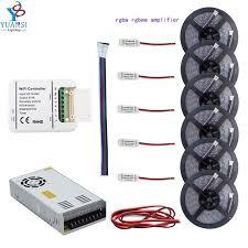 led strip lights wifi controller 5m 30m 5050 rgbw rgbww 4colors in 1led led strip light wifi led