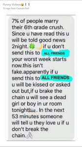 7 of people marry their 6th grade crush snapchat chain mail