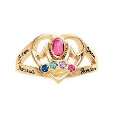 personalized birthstone necklaces keepsake personalized family jewelry emily s birthstone ring
