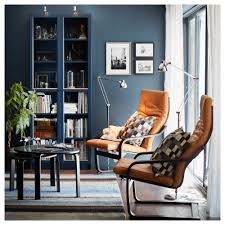 Glass Bookcase With Doors by Billy Bookcase With Glass Doors Dark Blue 80x30x202 Cm Ikea