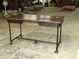 Metal Desk Vintage Industrial Desk A Simple Industrial Desk Metal Furniture Antique