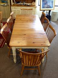 ethan allen kitchen table ethan allen country colors table with six side chairs two captain