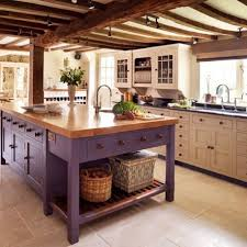 furniture style kitchen island beautifully colorful painted kitchen cabinets purple kitchen