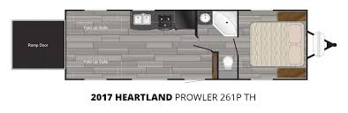 2017 heartland prolwer 261p th toy hauler trailer stock pl17012