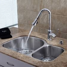 Stainless Steel Kitchen Sink Combination KrausUSAcom - Double bowl undermount kitchen sinks