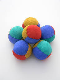 leather juggling balls 4 panel suede juggling beanbags