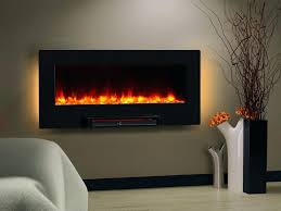 electric flat panel wall mount fireplace aged coffee infrared