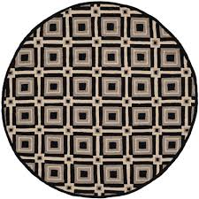 6 X 6 Round Area Rugs by Safavieh Four Seasons Black Grey 6 Ft X 6 Ft Round Indoor