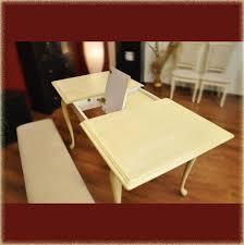 Esstisch Queens Tisch Esszimmer Akazie Esstisch Tisch Küchentisch Hevea Holz Creme Antik B120 150x75
