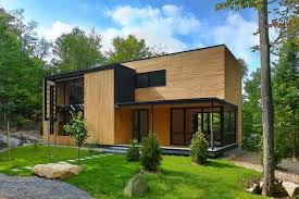 wooden house design with beautiful interiors accentuated by red