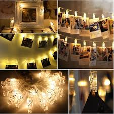 string lights with picture clips eeekit waterproof 20 led photo string lights clips battery powered