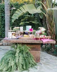 an island inspired backyard wedding anniversary dinner martha