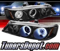 97 honda accord lights sonar ccfl halo projector headlights black 94 97 honda accord