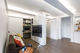 Desk In Living Room by Nyc Micro Apartments Curbed Ny