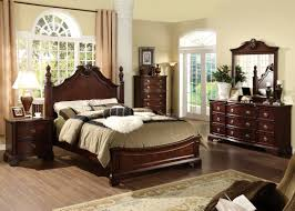 king poster bedroom sets king size bed offers inexpensive bedroom bedroom furniture 5 pc carlsbad formal and stylish dark cherry finish wood queen