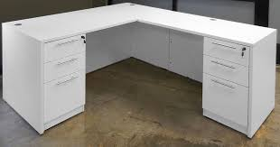 White Table L L Shaped Table Beetle Kill Pine Lshaped Desk Miraculous Snapshot
