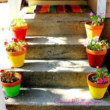 Flower Pots - how to paint 1 flower pots and add color to your backyard hometalk