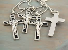 mens cross crucifix necklace images St benedict cross crucifix necklace jpeg