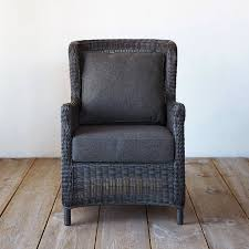 modern wingback all weather wicker armchair terrain
