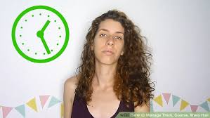 wiry short wavy hair what styles suit 3 ways to manage thick coarse wavy hair wikihow