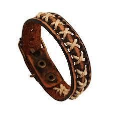 leather jewelry cuff bracelet images Vintage handmade leather bracelets braided retro belt strap style jpg