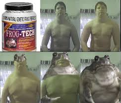 Protein Powder Meme - frog tech protein powder meme guy