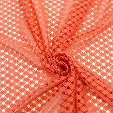 coral lace fabric ornament weave pattern open lace fabric by the
