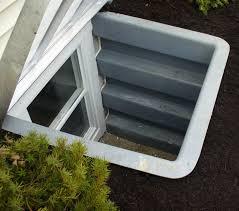 small basement window covers with white basement window well