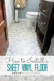 bathroom floor ideas vinyl how to install a sheet vinyl floor hometalk