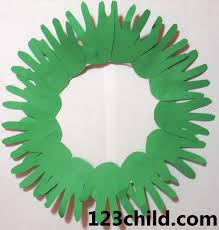 hand print wreath trace each child u0027s hands several times onto a