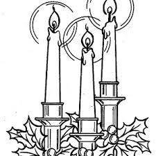 christmas candle decorated flower leaves coloring pages