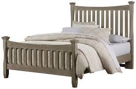 vaughan bassett bedford queen poster bed with slat headboard