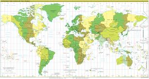 World Map With Cities by Time Zones Map U2022 Mapsof Net