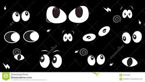 glowing scary eyes halloween greeting card vector stock vector