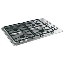 Gas Cooktop Dimensions Shop Ge Gas Cooktop Stainless Steel Common 30 In Actual 30