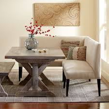 Dining Table Banquette Eco Linen Sectional Settee U0026 Dining Banquette Bench Vivaterra
