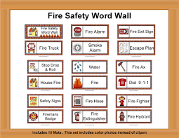 fire safety word wall firefighter unit pinterest fire safety