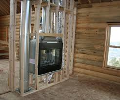 wood stove insert for two sided fireplace ideas about double