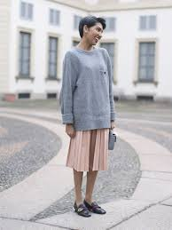 sweater skirt a sweater a skirt and flats that never go out of style
