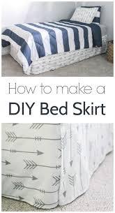 Platform Bed Skirt - velcro bed skirt so easy great beginner project sewing