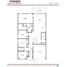 Builder Floor Plans by Plan 2037 Ventana Lakes Katy Texas D R Horton
