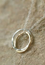 silver rings necklace images Linked rings necklace gold and silver entwined rings infinity jpg