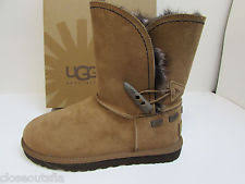 s ugg australia brown leather boots ugg australia chestnut brown meadow faux fur suede boot size 6
