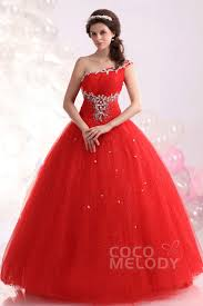 quincia era dresses noble gown one shoulder floor length tulle quinceanera